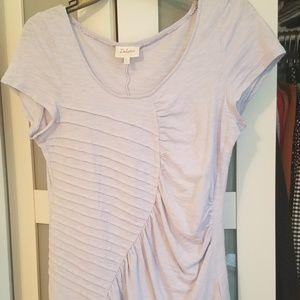 Lavender shirred Anthro T l-shirt